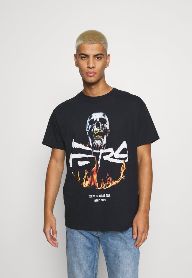 A$AP FERG FLAME SKULL - T-shirt con stampa - black
