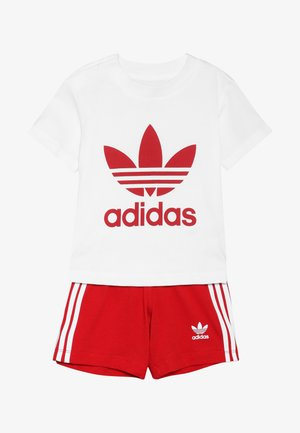 SET UNISEX - Shorts - white/scarlet