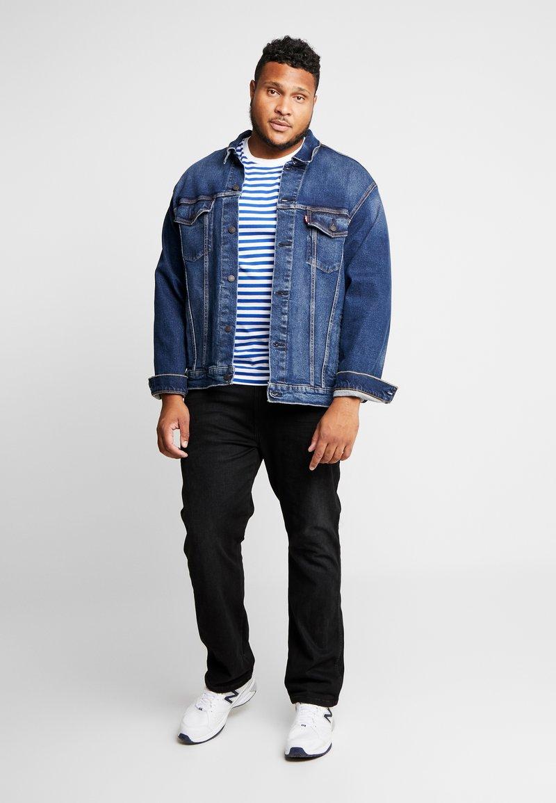 Calvin Klein Jeans - 2 PACK SLIM FIT - Print T-shirt - bright white/mezarine blue