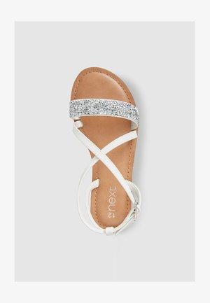 ROSE GOLD CROSS STRAP SANDALS (OLDER) - Sandals - white