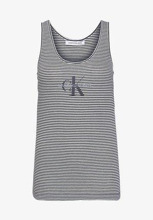 ORGANIC COTTON LOGO - Top - bright white / ck black