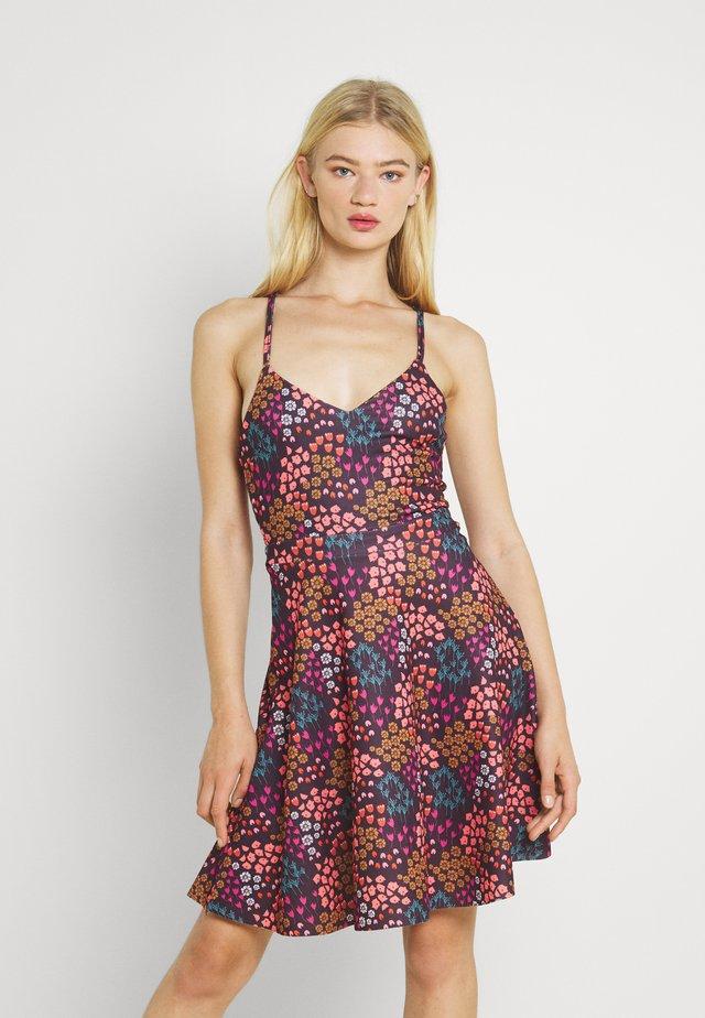 Jersey dress - plum