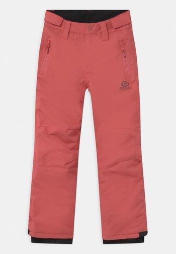 OLLY UNISEX - Snow pants - dusty cedar
