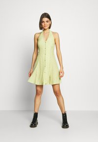 Rolla's - HALTER MINI TULIPS DRESS - Day dress - citron - 1