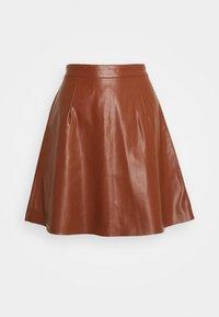 Vila - VIPEN SKATER SKIRT - A-line skirt - tortoise shell - 0
