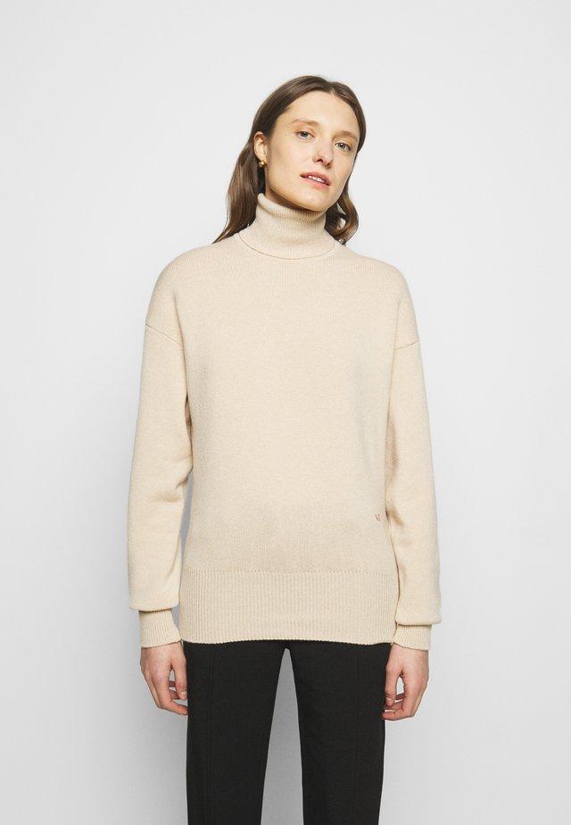 NECK JUMPER - Pullover - vanilla melange