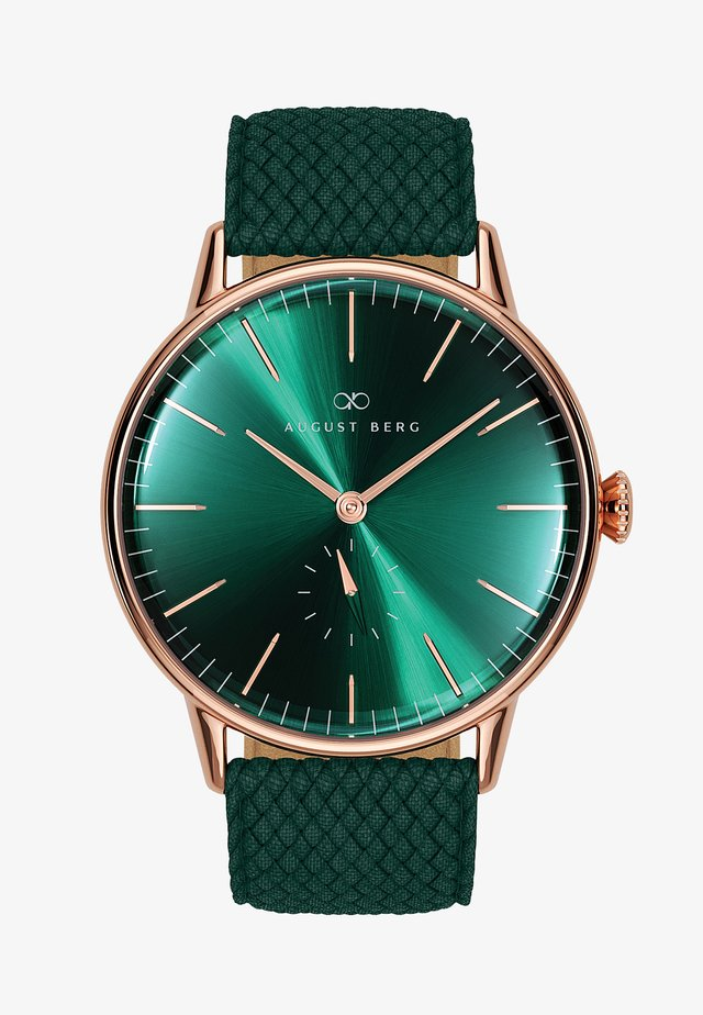 UHR SERENITY GREENHILL EYE DARK GREEN PERLON 40MM - Orologio - sunray green