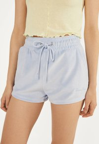 Bershka - Shorts - light blue - 3
