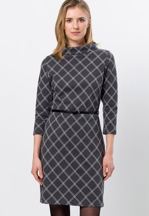 MIT GÜRTEL - Day dress - anthracite-m