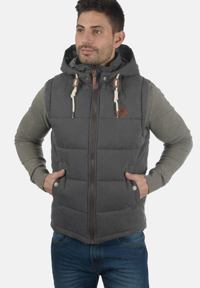 WESTE DRY - Waistcoat - dark grey