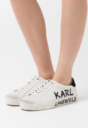 SKOOL BRUSH LOGO LACE - Sneakers laag - white
