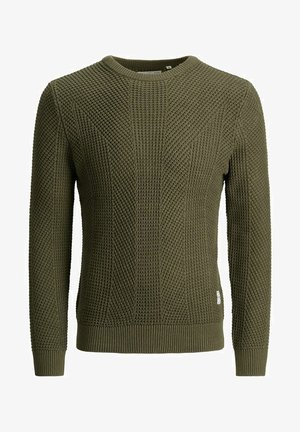 PKTHNN JOHN CREW NECK KNIT - Jumper - olive night