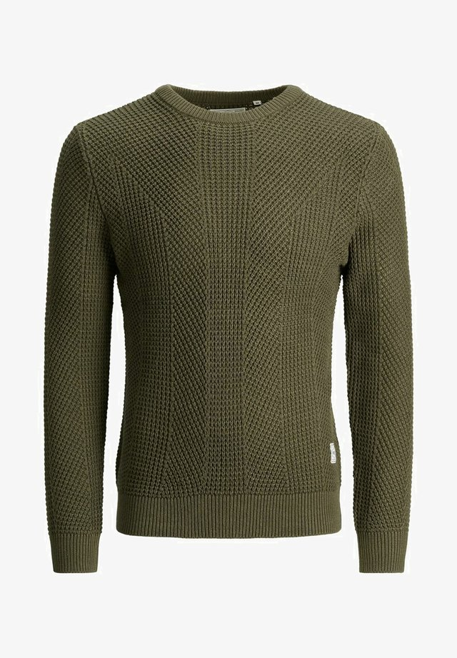 PKTHNN JOHN CREW NECK KNIT - Trui - olive night