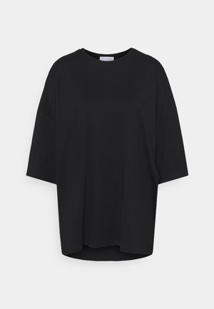 OVERSIZED CREW NECK - T-paita - black