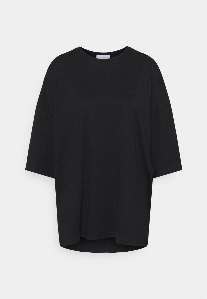 NU-IN - OVERSIZED CREW NECK - T-shirt basique - black