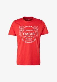 s.Oliver - MIT SCHRIFTPRINT - Print T-shirt - red - 6