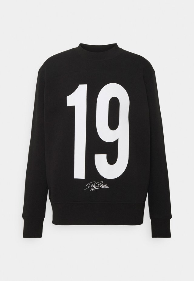 NUMBER CREW UNISEX - Sweatshirt - black