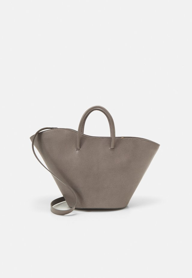 OPEN TULIP MEDIUM - Shopping bag - mink