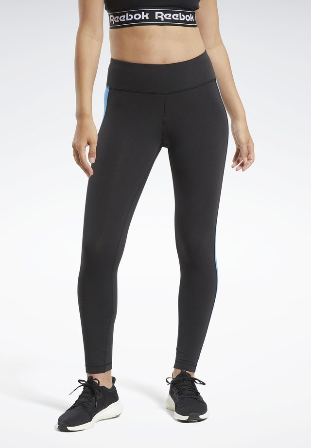TRAINING ESSENTIALS LINEAR LOGO LEGGINGS - Legginsy - black
