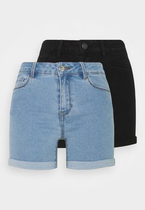 VMHOT SEVEN FOLD 2 PACK - Shorts vaqueros - black/light blue
