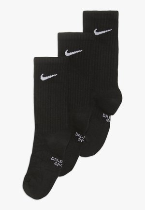 EVERYDAY CUSH CREW 3 PACK - Chaussettes - black/white