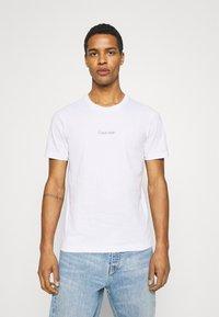 Calvin Klein - CENTER LOGO 2 PACK - Triko spotiskem - black - 1
