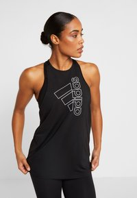 adidas Performance - TECH BOS TANK - Sportshirt - black/white - 0