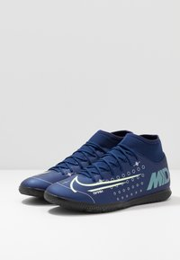 Nike Performance - MERCURIAL 7 CLUB IC - Botas de fútbol sin tacos - blue void/metalic silver/white/black - 2