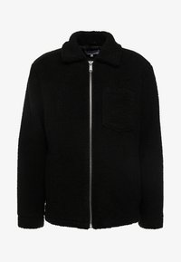 Weekday - RUSS PILE JACKET - Fleecejakker - black - 3