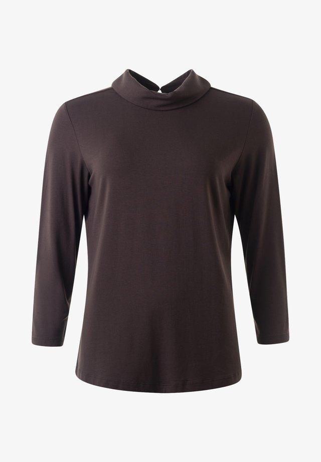 Långärmad tröja - darkchocolate