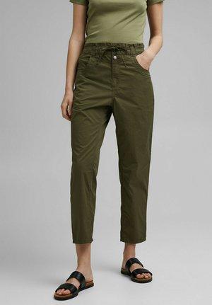 FASHION - Trousers - khaki green