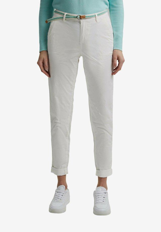 FLOW - Pantalones chinos - white