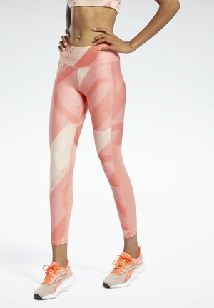 RUN ESSENTIALS ALLOVER PRINT LEGGINGS - Collant - red