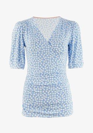 Joanna Wickel - Print T-shirt - blassblau, blasen