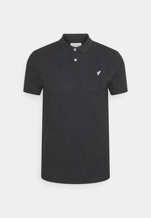 Poloshirt - mottled dark grey
