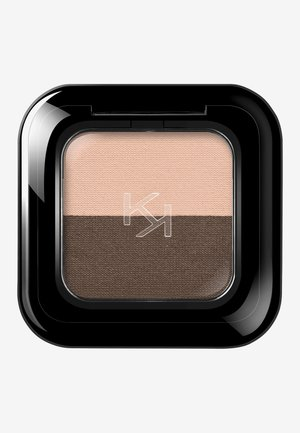 BRIGHT DUO EYESHADOW - Eye shadow - 17 metallic beige/satin ebony