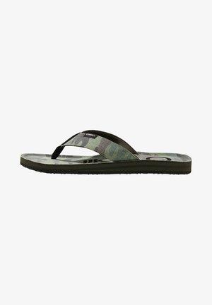 CHAD  - T-bar sandals - green aop
