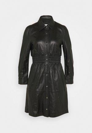 SMOCKED DRESS - Shirt dress - black