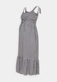 Ripe - GINGHAM NURSING DRESS - Denní šaty - black/white - 0