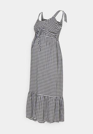 GINGHAM NURSING DRESS - Jurk - black/white