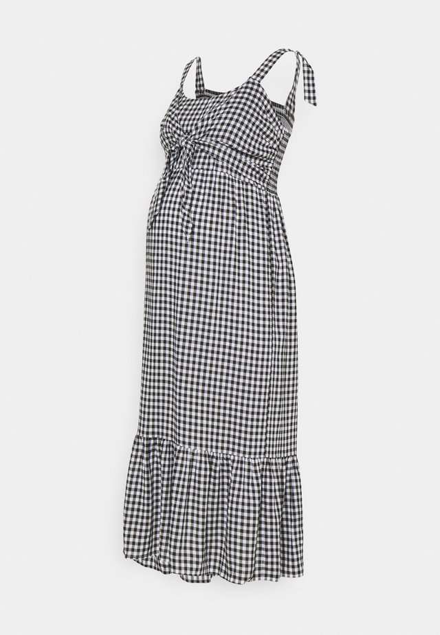 GINGHAM NURSING DRESS - Hverdagskjoler - black/white