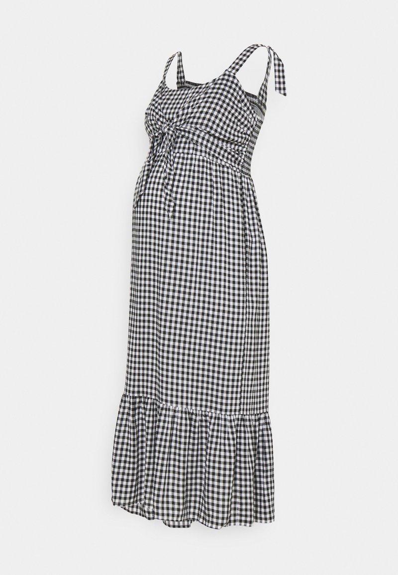 Ripe - GINGHAM NURSING DRESS - Denní šaty - black/white