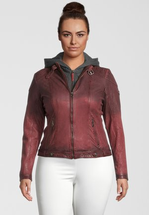 LAMOV - Leather jacket - ox red