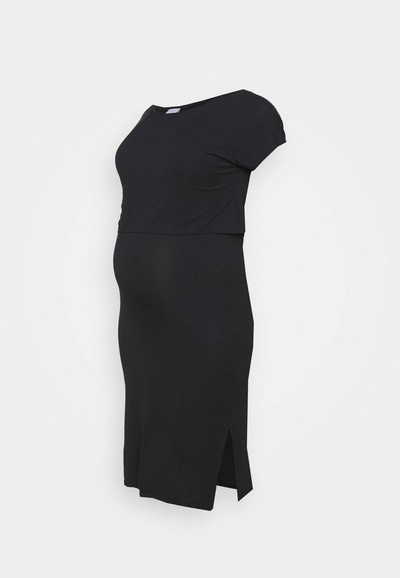 Mamalicious Curve - MLJILL DRESS  - Jersey dress - black