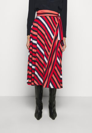 TILDA - A-line skirt - shadow/pop red