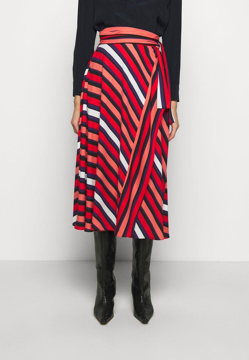 Diane von Furstenberg - TILDA - A-line skirt - shadow/pop red