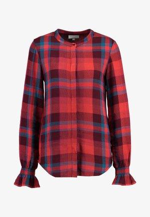 STUDIO POWDER BLOUSE - Button-down blouse - red