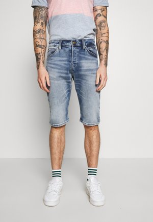 JJIREX JJLONG - Denim shorts - blue denim