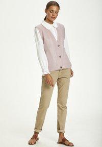 Cream - Waistcoat - burnished lilac - 1
