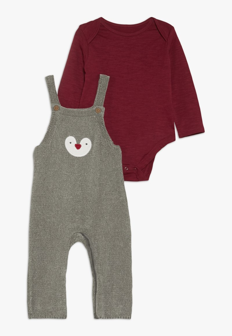mothercare - BABY PENGUIN DUNGAREE SET  - Body - grey